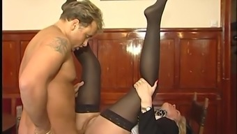 German born Blonde Nan will get a extreme fuck located on the desk