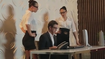 Ideal office opposite sex revealing cock working
