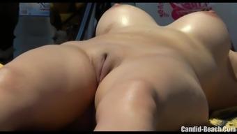Beginner Horny Hirsuite pussy Milfs Beach Voyeur SpyCamera