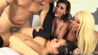 Group intercourse along with Alura Jenson, Kimmy Lee and Sara Jay