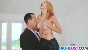 Schoolgirl Cece Capella gets fucked at your home