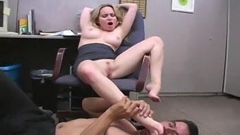 fetsh place of work entertaining when using the naughty brown aiden starr