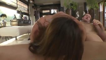 franceska jaimes has a serious anal passage beating while deepthroating a lift