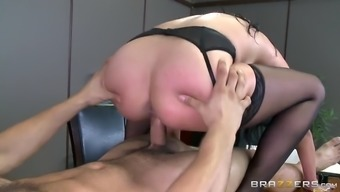 missy martinez's vast oiled titties bounce as she rides the cock
