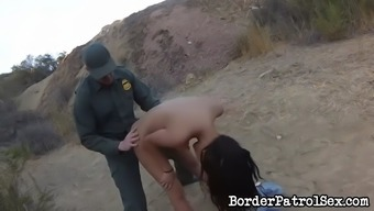 weak latina josie jagger gets caught and fucked by border watchman