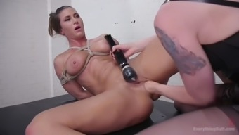 ariel x gets her butt enhanced by lorelei lee's fists as well as a strapon