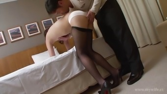 Lusty Asian hottie opens-up her like probe for company