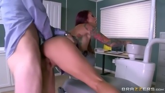 attractive doc monique alexander comes in contact with patient's monster cock in health care centre