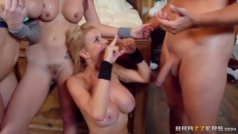 Rachel Starr and Monique Alexander hook a couple and fuck with them