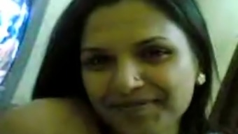 Sexy grow older indian girl indicates of her nice titties and teasing on web camera