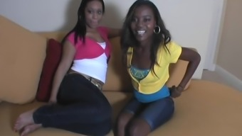 Charming Ciera And Her Ebony Friend Contain an Interracial Threesome