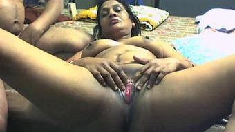 Slutty prego take pleasure in warm stimulation