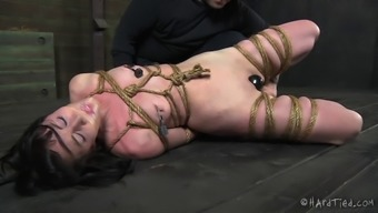 Cute servitude cowgirl spanked and joshed in BDSM pornography