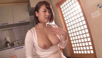 Great chests From asia dame in small long dresses gets set