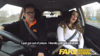 Worthless School of motoring busty jailbird normally takes master on any wild environment cycle!