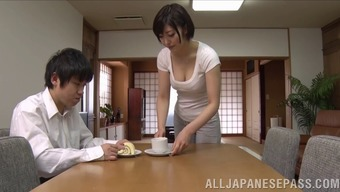 horny japanese people wife savours intense pussy trouncing action
