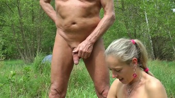 Car Pulsating, wanking in wood and seashore, sex along with spectators