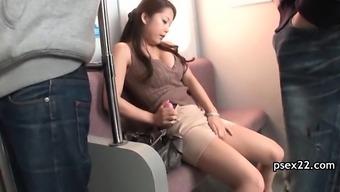 Community train pussy stroking