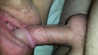 Plus-size woman having genital intercourse - closeup Hi-def