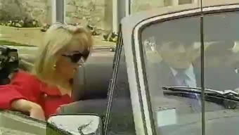 Blond milf by using large tits fuck in the car