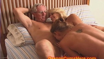 Granny and Grand father fuck Daughter and Teenager
