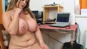 Adorable krown with enormous vast boobs enjoy her crimson
