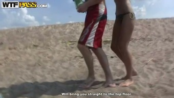 Really super quick missionary design fuck at the coast taped on cam