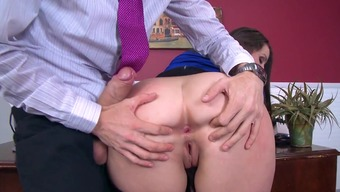 Chubby office tramp likes the latest bloke for a couple xxx rounds of golf
