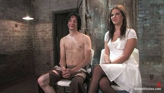 Horny Bobbi Starr Factors Guy for a Over the edge Shaft Ride in Femdom Servitude