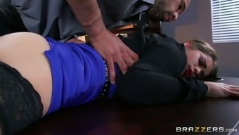 Distorted boss seduces younger study and offers her vocabulary position