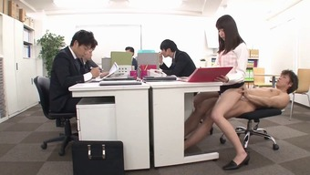 Sensuous Japanese people counter fucking guys in the workplace