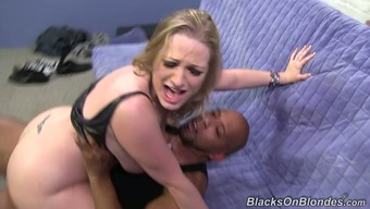 Groaning white chubby vagrant Vicky Dog can take twofold BBC penetration