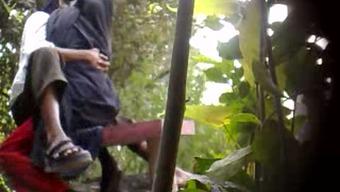 Secret cam pornography video open air of an Indian newbie a few