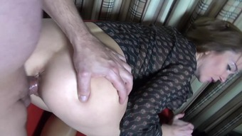 Young adult fucked in beige pantyhose