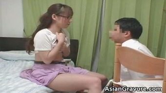 Sexy from asia with the use of major bosoms home or office tutor part1