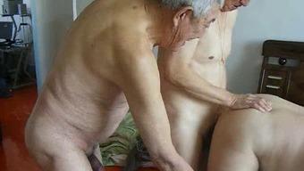 2 or more grandpas fuck grandpa