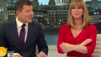 Kate Garraway - Sizzling Red colored Outfit Exhibiting Cleavage!