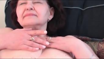 Big tits Granny Masturbating