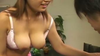 Busty Japanese nympho Eri Yukawa is very good at provide mind