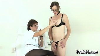 Cheating the english language mature lady sonia uncovers her major tits