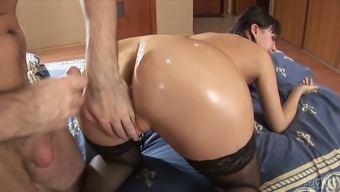 Bf fucks anal passage hollow of Anastasia II and is found in it by using sperm