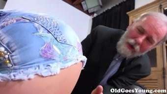 Old Goes Younger - Chrissy Dog provides the most gorgeous young adult pussy