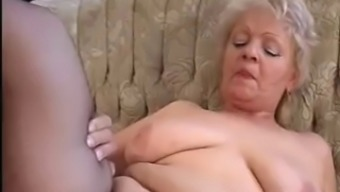 Granny Seduces Younger Adult man