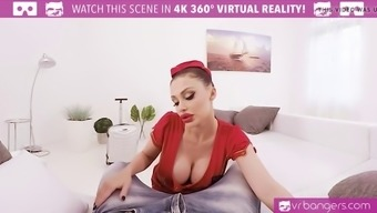 vr porn-busty aletta ocean get popped and titty fuck utilizing a