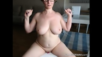 Stunning Big Breasted Milf Flaunts With Her Wet Twat