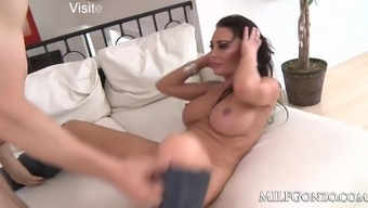 MILFGonzo Dayton Down pours fucked and filled be abreast within the retailing changes a creampie