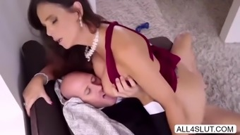 Great tits MILF Syren Ook de Mer seduces hot husband Johnny Sin and impact his joystick