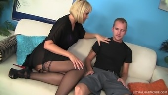 Definitely stocked tramp in stockings get fucked inside a moist doggystyle become