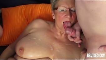 The german language granny fuck two dicks