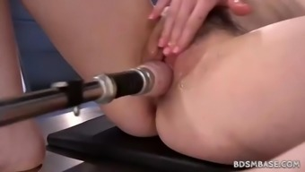 free19 machine fucking independently with the use of amarna miller